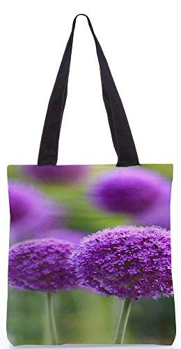 """Snoogg Lila Blüten Einkaufstasche 13,5 X 15 In """"Einkaufstasche Dienstprogramm Trage Aus Polyester Leinwand"""