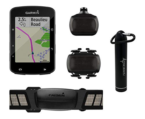 Wearable4U Garmin Edge 520 Plus Cycling Computer Compact Power Bank Bundle (Sensor Bundle)