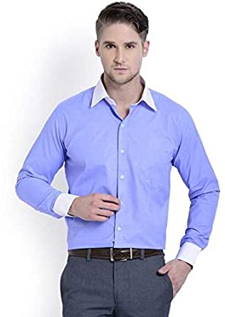 Skorpio 10187-01 Casual Shirt For Men - 40 Us, Blue
