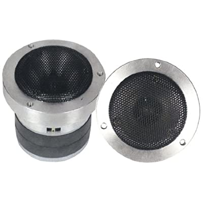1 Inch Car Speaker Tweeter - Heavy Duty 500 Watt High Power Super Titanium Audio Tweeter System w/ Die Cast Aluminum Frame, 2kHz-25 kHz Frequency, 110 dB, 4-8 Ohm, Crossover Capacitor - Pyle PDBT37: Home Audio & Theater