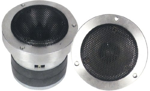 1 Inch Car Speaker Tweeter - Heavy Duty 500 Watt High Power Super Titanium Audio Tweeter System w/ Die Cast Aluminum Frame, 2kHz-25 kHz Frequency, 110 dB, 4-8 Ohm, Crossover Capacitor - Pyle PDBT37