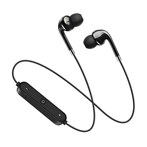(Bluetooth Headset,Sunfei Bluetooth 4.1 Stereo Earphone Headset Wireless In-Ear Earbuds Headphone (Black))
