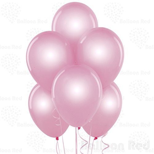10 Inch Pearlized Latex Balloons (Premium Helium Quality), Pack of 72, Pearl Pink