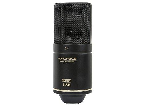 Gold Diaphragm Usb Condenser - Monoprice Large Diaphragm Condenser USB Microphone