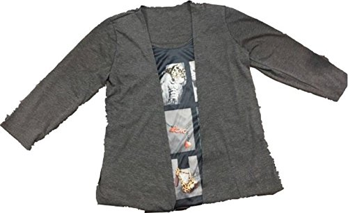 Tee shirt grande taille - Camiseta de manga larga - clásico - para mujer