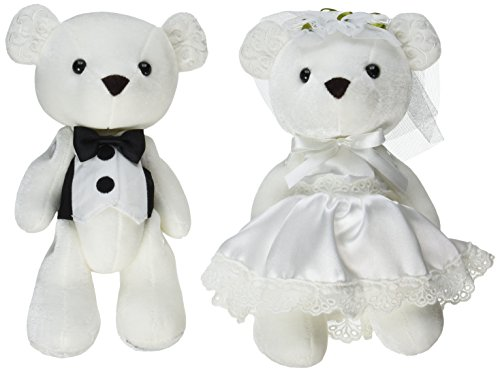 Enesco Teddy Bear - Enesco Insignia Bride and Groom Bears Plush, 9.5