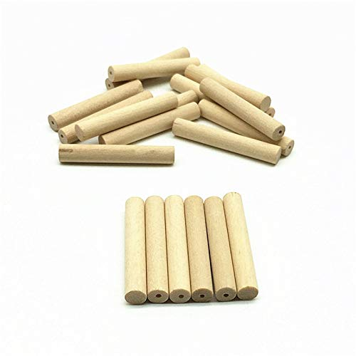 Calvas WD165(20), 325mm Natural Long Tube Column Bar Shaped Spacer Unfinished Wood Bead DIY Wooden Dangle Earring Pendent Jewelry
