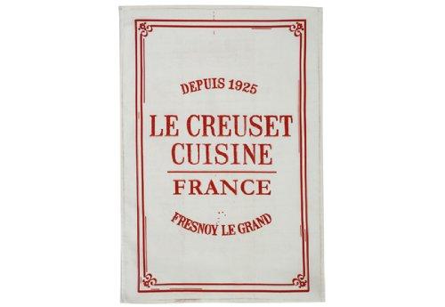 Le Creuset Cuisine Towel, Cerise (Cherry Red) (Le Creuset Kitchen Towel)