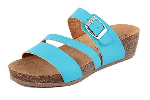 SUMMERY Sandalias de Vestir de Material Sintético Para Mujer Azul Azul