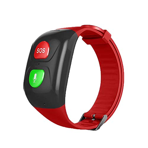 (GPS Watch for Kids Seniors, Smart Watch Phone GPS Tracker with Anti Lost SOS Call Location Finder Pedometer GPS LBS Real Tracking On APP Support Android iOS)