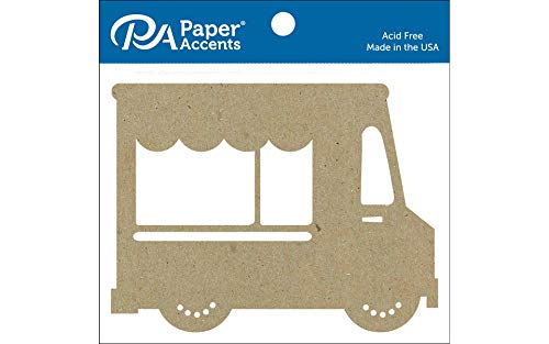 Accent Design Paper Accents ADPSHAPE.269 4 Piece Chip Shape Natural Shape Food Truck (Accents Truck)
