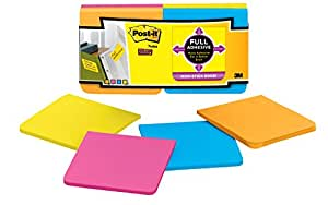 Post-it Super Sticky Full Adhesive Notes, 3 in x 3 in, Rio de Janeiro Collection, 12 pads/pack (F330-12SSAU)