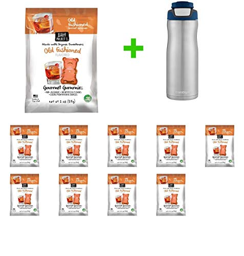 Project 7 Halloween Moscow Mule Gummies - 2oz(10 PACK)+ Contigo Autoseal Chill Stainless Steel Hydration Bottle 24oz(Combo Offer)