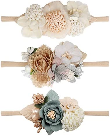 Floral Headband Elastic Newborn Toddler product image