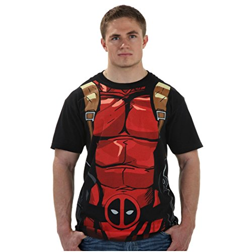 Deadpool Costume Colors (I Am Deadpool Costume T-Shirt-Large)
