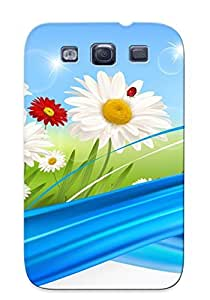 Galaxy S3 Ladybugs On Daisies Print High Quality Tpu Gel Frame Case Cover For New Year's Day