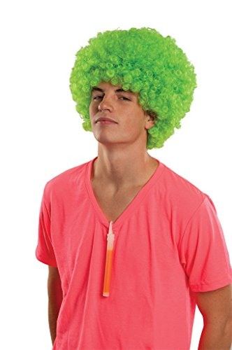 [Rubie's Costume Afro Rave Neon Wig, Green, One Size] (Neon Green Wigs)