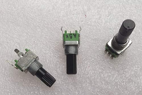 PCS/LOT For09 A5K A10K A20K C10K 17MM B5K B10K B20K B50K B100K 17MM 23.5MM Plum Blossom Shaft/Half Shaft Potentiometer ()