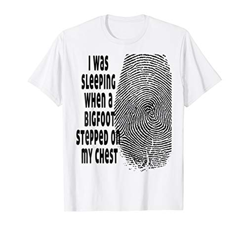 Funny quote halloween bigfoot print tee shirt -