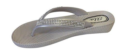 Ubershoes - Sandalias de vestir de Material Sintético para mujer plata