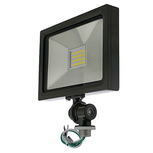 LEDwholesalers Series-5 Ultra-Slim 25W LED Outdoor Security Flood Light Fixture with 1/2