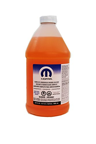 Genuine Chrysler Accessories 68044762AA Mopar Complete Windshield Washer Solvent - 64 oz. Bottle