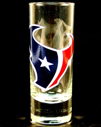 NFL Licensed Cordial Logo Hype Glass Shot Glass (2 Oz.) (Houston Texans)
