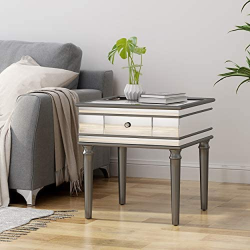 Christopher Knight Home Joyce Modern Mirrored Accent Table