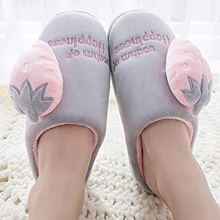 Amazon.com: Mink Monk Women Slippers Strawberry Cactus Winter Warm Fur House Slippers Indoor Outdoor Plush Ladies Shoes Women Couple Zapatillas Mujer: ...