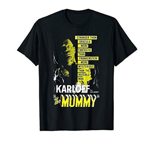 Vintage Movie Poster T Shirt - Mummy Horror Movie Poster Tee T-Shirt