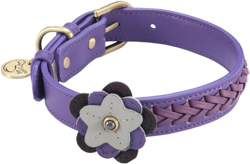 "10.5""-12"" Petal Violet Dog Collar 3/4"" wide, Small"