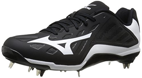 Mizuno Men's Heist Iq Baseball Shoe Black / White 9Jue8uih