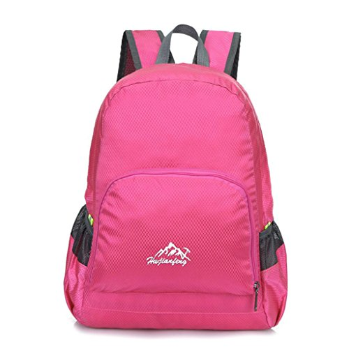 [Laimeng, Outdoor Waterproof Bionic Camouflage Pattern Folding Backpack Package Bag Camo (Hot Pink)] (Soda Mini Costumes)