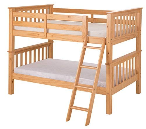Camaflexi Santa Fe Mission Low Bunk Bed Angle Ladder, Twin Over Twin, Natural