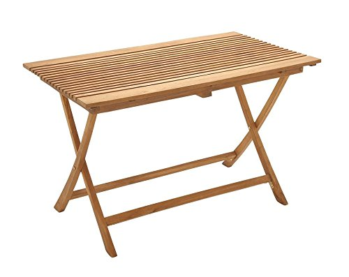 Deco 79 92451 Wood Teak Large Folding Table, 47'' x 30'' by Deco 79