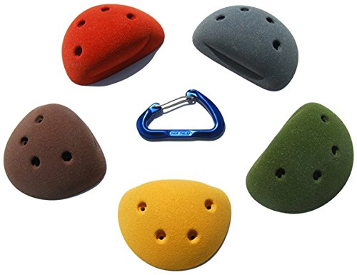 5 Large Simple Screw-On Slopers | Climbing Holds | Mixed Earth Tones by Atomik Climbing Holds