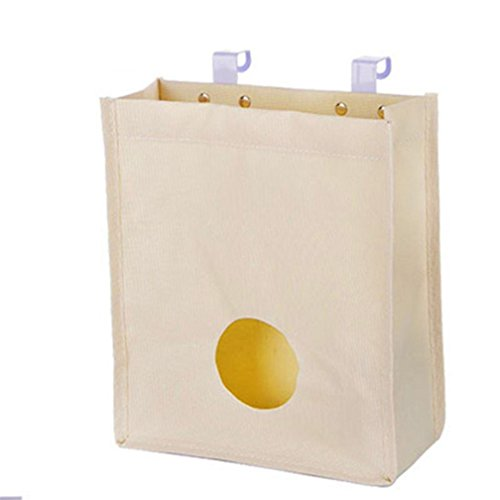 Amazon.com: Cupboard Garbage Bag Organizer Trash Bags Holder Recycling Containers Waste Bag Hanging Dispenser Bag Sack Saver for Kitchen Bathroom (Beige): ...