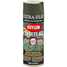 Krylon K04293000 Camouflage Made with Fusion for Plastic Technology Spray Paint, Olive, 11 Ounce