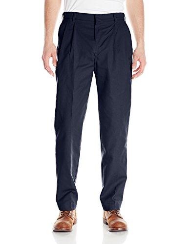 Red Kap Uniforms Men's Pleated Twill Slacks, Navy, 30x34