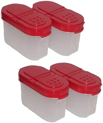 Amazon Com Tupperware Small Spice Containers Set Of 4 Kitchen Storage And Organization Product Sets