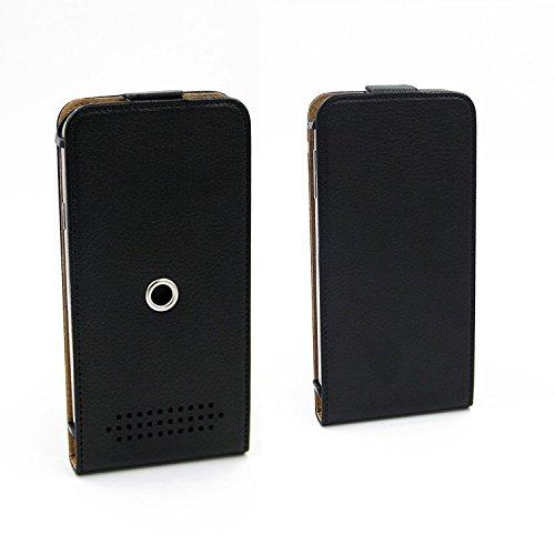 Schutz-Hülle für Leagoo, TIMMY, Samsung, LG Electronics, Huawei, Apple, HTC, Lenovo, Sony, Nokia, OnePlus, Motorola , schwarz 360° Handy Case Hülle Smartphone Tasche mit Kameraschutz. flach & elegant.
