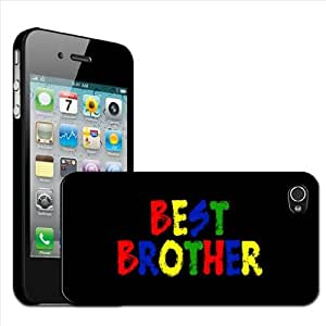 "Fancy A Snuggle - Carcasa rígida para Apple iPhone 4 y 4S, diseño con texto ""Best Brother"""