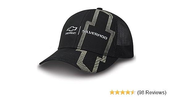 Chevy Silverado Black Twill /& Mesh Hat N C6520194
