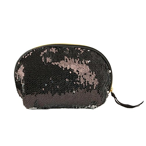 Women for Women Double Lavany Cluthes Color Zipper Handbag Wallet Black Bag Sequins Bag Tqd4fRw