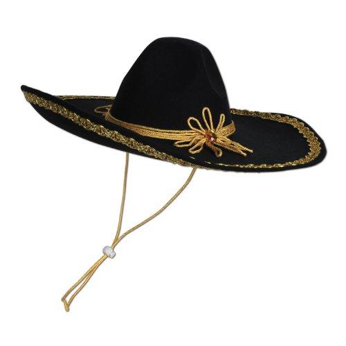 Beistle 60624 6-Pack Felt Sombrero (Felt Sombrero)