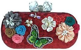ZYT Mujer Bolsos Otro Tipo de Cuero Bolso de Noche Apliques Detalles con Perlas Flor Pétalos para Boda Evento/Fiesta Casual Formal Todas las