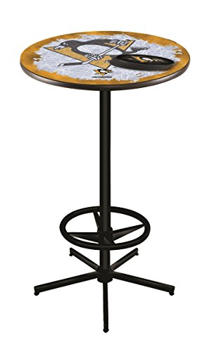 (Holland Bar Stool Co. NHL Pittsburgh Penguins Officially Licensed Pub Table, 36