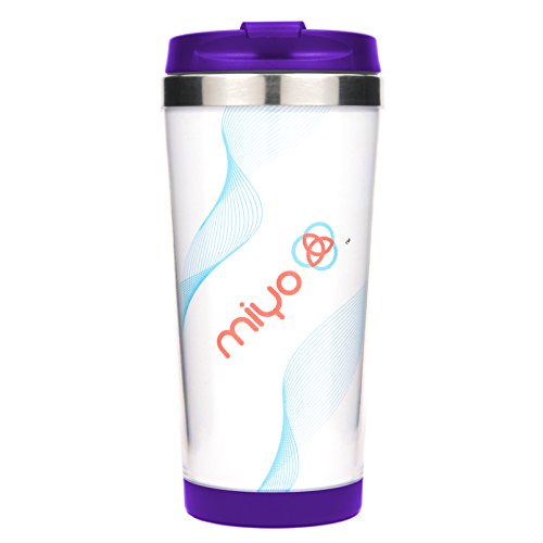 MIYO (Make It Your Own) Insulated Stainless Steel DIY Tumbler, 16oz, Purple