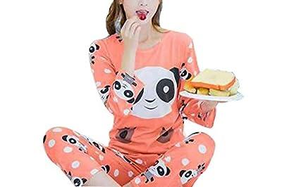 Big Girls' Cute Cartoon Print Pajamas Set 100% Polyester Children Long Sleeve Sleepwear Nighty