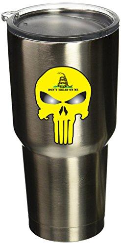 "BOLDERGRAPHX 5079 2""x3"" Punisher Skull with gadsden flag 2 p"